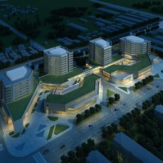 Buildings at Night 796 3D Model