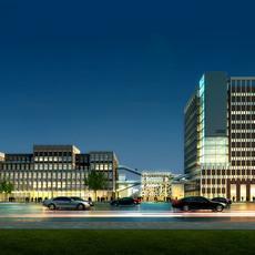 Buildings at Night  815 3D Model