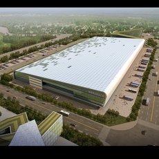 Large Industrial Building 915 3D Model