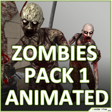 Male Zombies Collection 3D Model