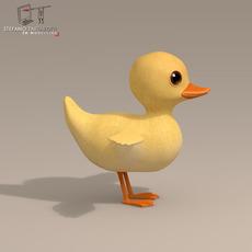 Duck cartoon character 3D Model