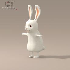 Rabbit cartoon character 3D Model