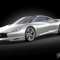 Infiniti Emerg-E concept 3D Model