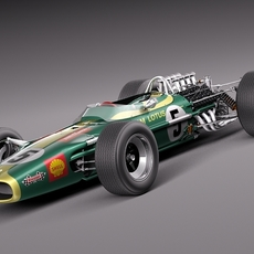 Lotus 49 1967-1970 3D Model