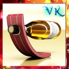 Wine Rack 5 and White Wine Bottle 3D Model