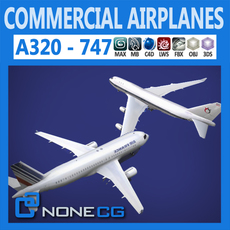 Pack - Commercial Airplanes 3D Model