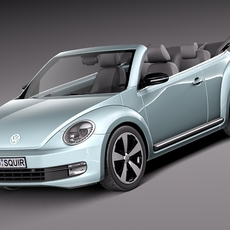 VW Beetle Convertible 2013 3D Model