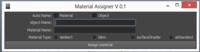 material assigner  for Maya 0.1.0 (maya script)