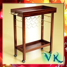 Wine Table Rack 1 3D Model