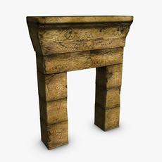 Egyptian doorway 3D Model