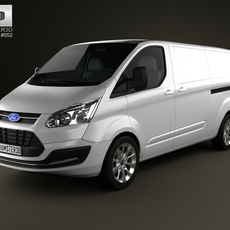 Ford Transit Custom LWB 2012 3D Model