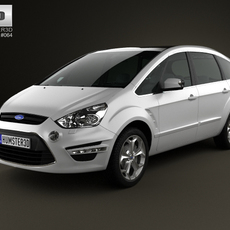Ford S-Max 2012 3D Model