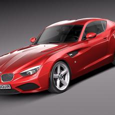 BMW Zagato Coupe Concept 2012 3D Model