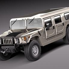 Hummer H1 Wagon 1992-2006 civil 3D Model
