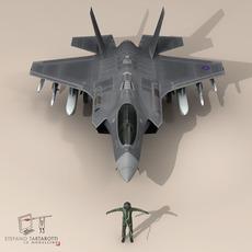 F 35 A Royal Air Force 3D Model