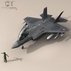 F 35A Turkey Air Force 3D Model