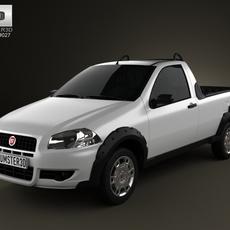Fiat Strada Short Cab Working 2012 3D Model
