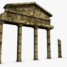 Low poly ancient ruins 3D Model