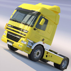DAF CF85 Tractor Head SpaceCab 3D Model