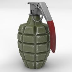 Mk 2 Grenade 3D Model