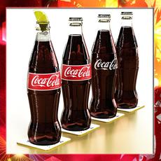 Coke - Coca Cola Glass Bottle 3D Model