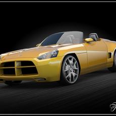 Dodge Demon Vray 3D Model