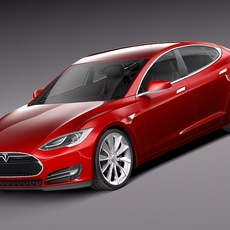 Tesla Model S 2013 3D Model