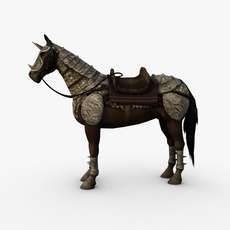 Horse with armor 3D Model