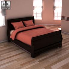 Ashley Huey Vineyard Twin Sleigh Headboard Bed 3D Model