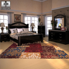 Ashley Constellations Poster Bedroom Set 3D Model