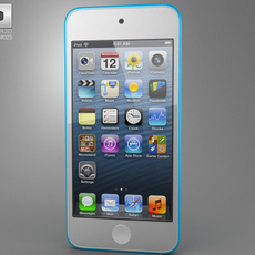 Apple iPod Touch 5th generation 2012 3D Model