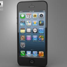 Apple iPhone 5 Black 3D Model