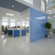 Detailed Office Building Interior Scenes 3D Model