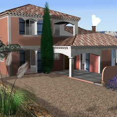 Villa from South of France 3D Model