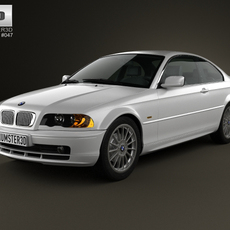 BMW 3 Series coupe (E46) 2004 3D Model