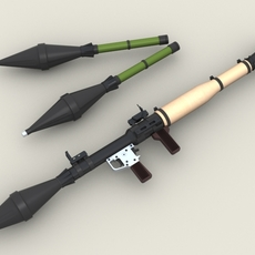 Rpg 7 Rocket Launcher 3D Model