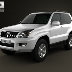 Toyota Land Cruiser Prado (120) 3-door 2009 3D Model