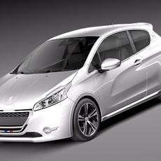 Peugeot 208GTi 2014 3D Model