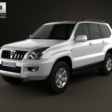 Toyota Land Cruiser Prado (120) 5-door 2009 3D Model