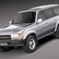 Toyota Land Cruiser J80 1989-1997 3D Model