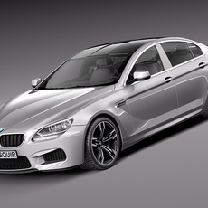 BMW M6 Grand Coupe 2014 3D Model