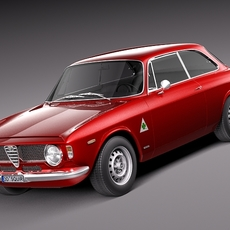 Alfa Romeo Giulia GTA 1965-1969 3D Model