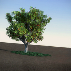 Apple with red apples LowPoly tree 3D Model