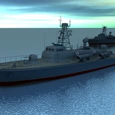Torpedo Boat 3D Model