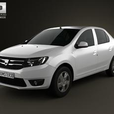 Dacia Logan sedan 2013 3D Model