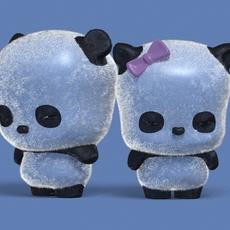 Cute Cartoon Panda 3D Model