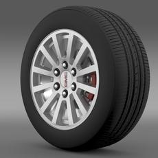 GMC Yukon Hybrid 2012 wheel 3D Model