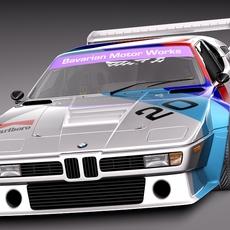 BMW M1 PROCAR Race Car 3D Model