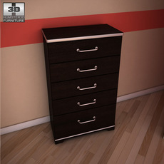 Ashley I-Zone Bookcase Chest 3D Model