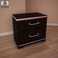 Ashley I-Zone Bookcasel nightstand 3D Model